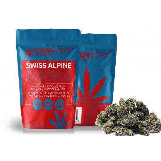 Swiss Alpine - 6% CBD Cannabidiol Cannabis Buds, 10 gram