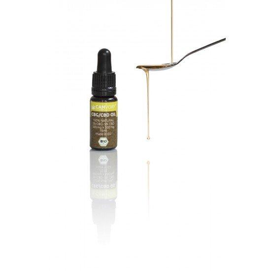 CBG + CBD Cannabigerol + Cannabidiol Hemp seed oil 5%, 500mg - 10ml